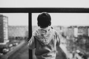 Little boy on balcony